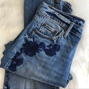 GAP Jeans - GAP • Embroidered Crop Denim